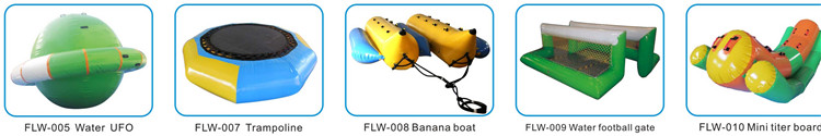 water ufo,trampoline,banana boat,water football gate,mini titer board